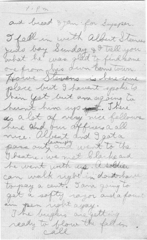 A Window on the Great War: 100 Year Old First Letter Home