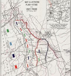 plan of attack on vimy ridge  [ 800 x 1100 Pixel ]