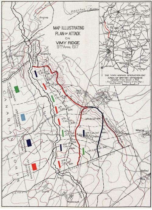 small resolution of plan of attack on vimy ridge