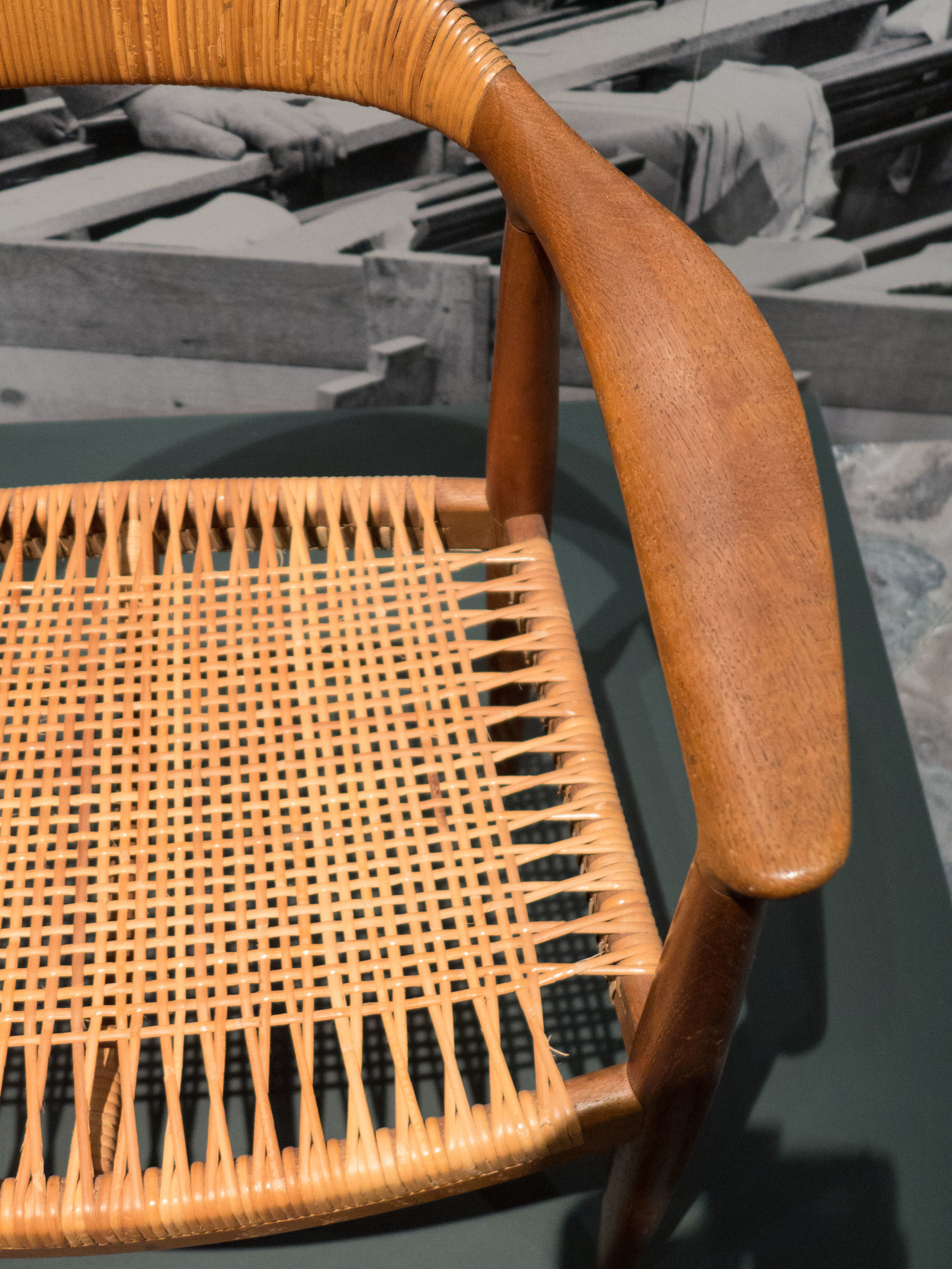 how to cane a chair swing mitre 10 design classic the by hans wegner 1949 danish review back rest itself is deep set as strong vertical but gently curved in plan provide broad band of lumber support arm pieces