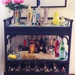 Kitchen Carts On Wheels Gel Mats Bar Cart Essentials — 2 Ladies & A Chair