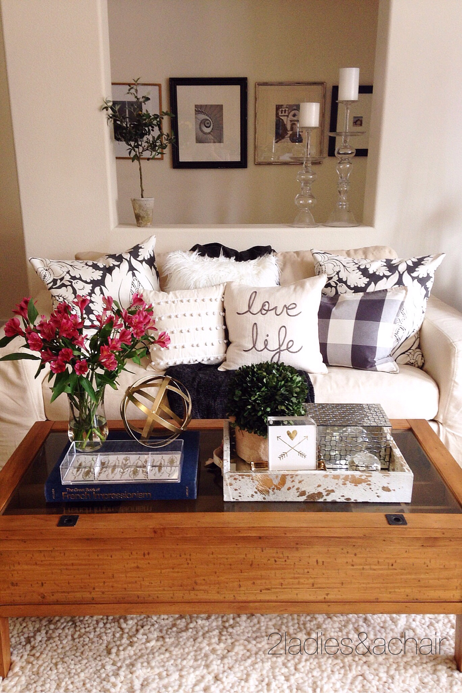 Decorating Your Coffee Table  2 Ladies  a Chair