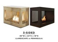 Fireplace Products  3 Sided Fireplace & Summer Candles by ...