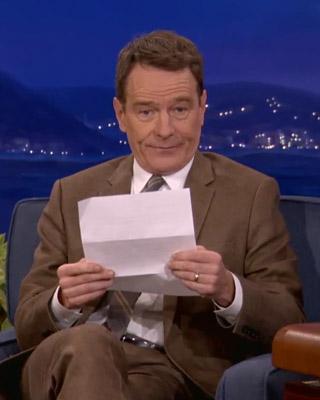 Bryan Cranston Reads His Favorite Erotic Love Letter