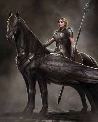 Valkyrie Warrior Goddess Character Design for THOR THE