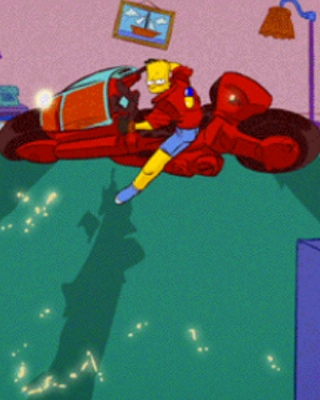 Bart is Kaneda in Fan Made AKIRA and SIMPSONS Couch Gag