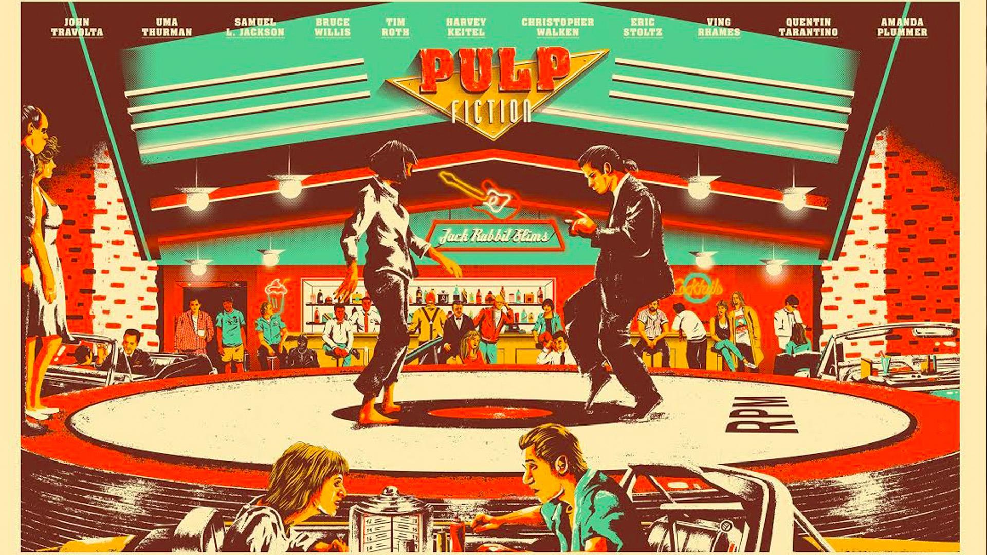 Cool Retro Poster Celebrating Quentin Tarantino S Pulp