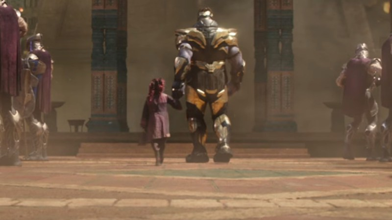 Young Gamora and Thanos in Avengers: Infinity War