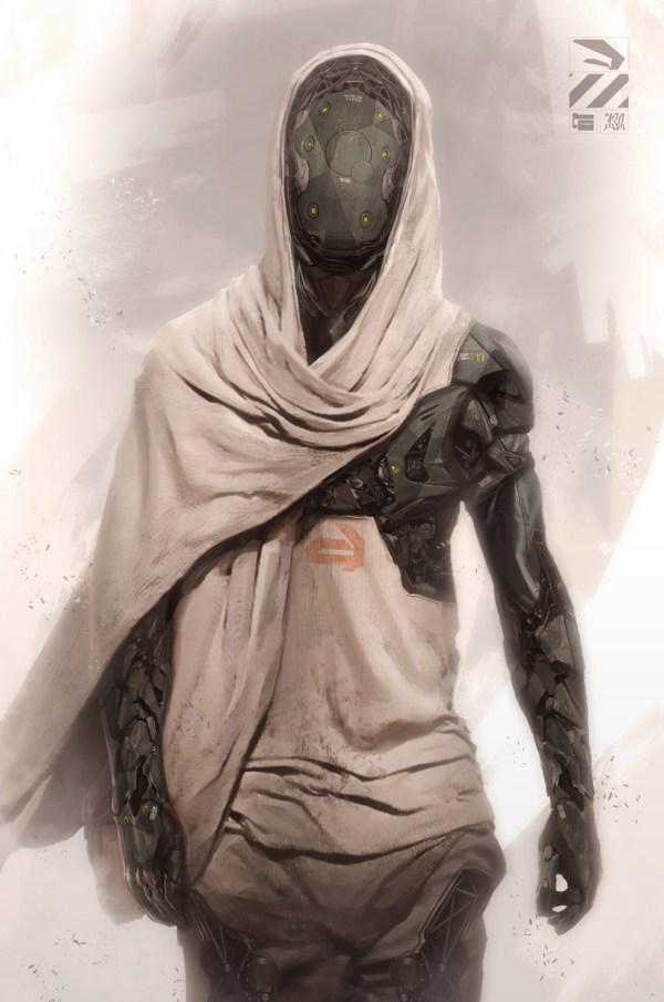 Cyborg Concept Art Character