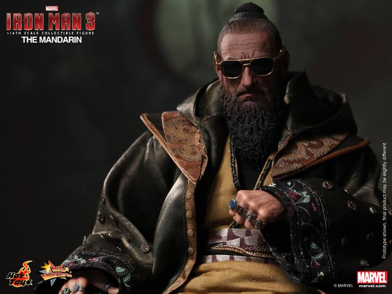 New IRON MAN 3 Hot Toys The Mandarin Silver Centurion
