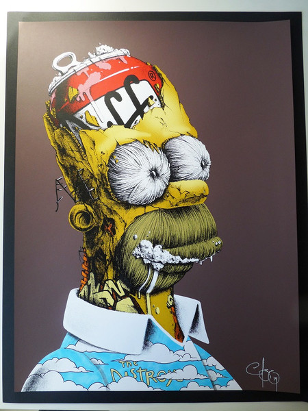 Wallpaper Falling Down Homer Simpson Tribute Art From Pez Quot D Oh Quot Geektyrant