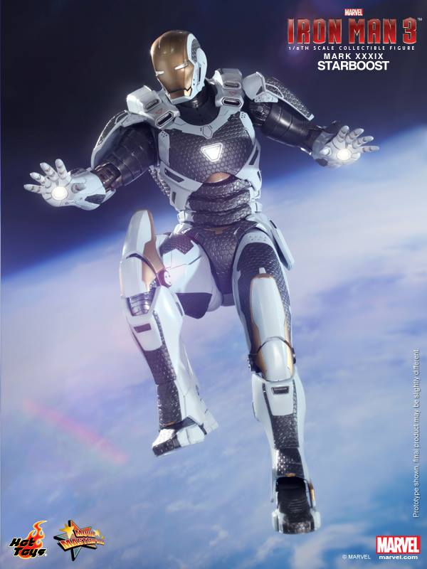 IRON MAN 3 Hot Toys Starboost Armor Collectible Figure