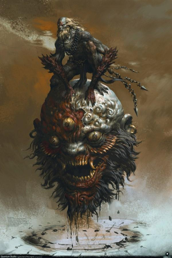 Japanese Demon Digital Art