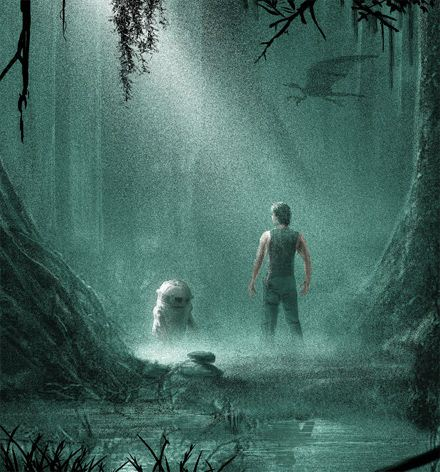 Star Wars Iphone Wallpaper X Wing Empire Strikes Back Dagobah Poster By Jc Richard Geektyrant