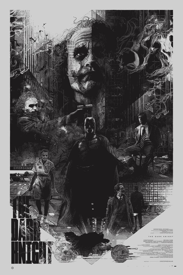 Stunning Poster Art Christopher Nolan' Dark Knight