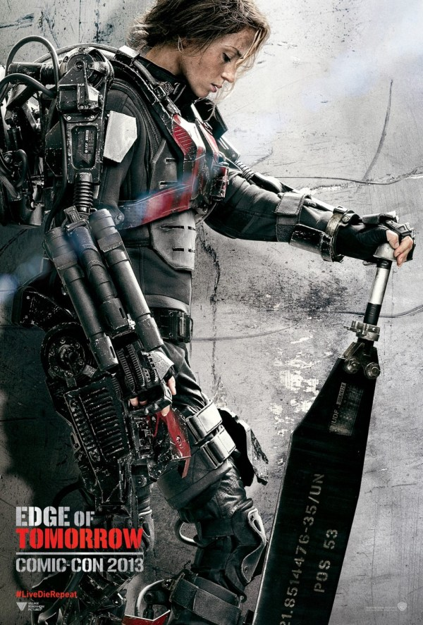Edge Of Tomorrow Character Poster With Emily Blunt