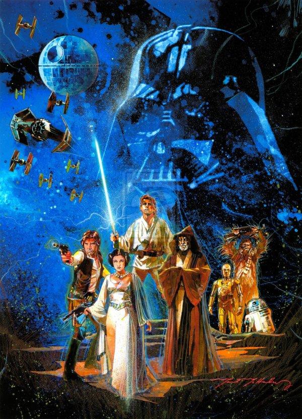 Cool Vintage Style Star Wars Poster Geektyrant