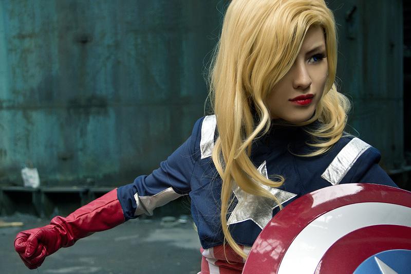 diy female captain america
