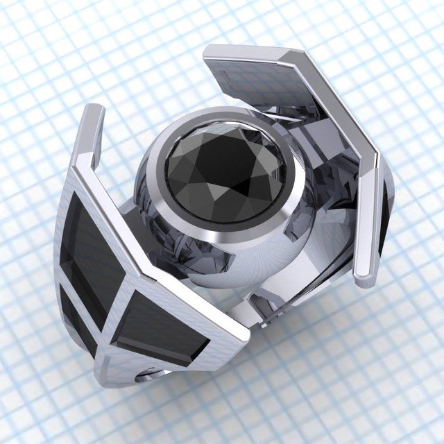 STAR WARS X Wing And TIE Fighter Engagement Rings GeekTyrant