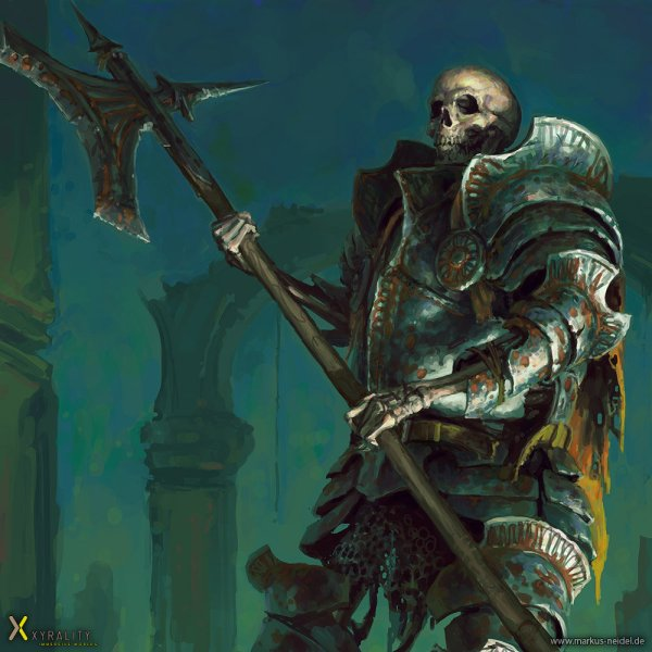 Medieval Skeleton Warrior Art Markus Neidel Geektyrant