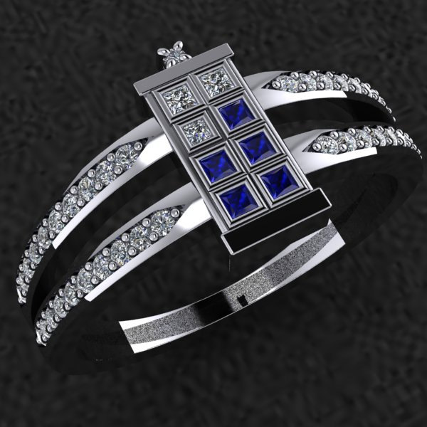 Elegant DOCTOR WHO TARDIS Ring  GeekTyrant