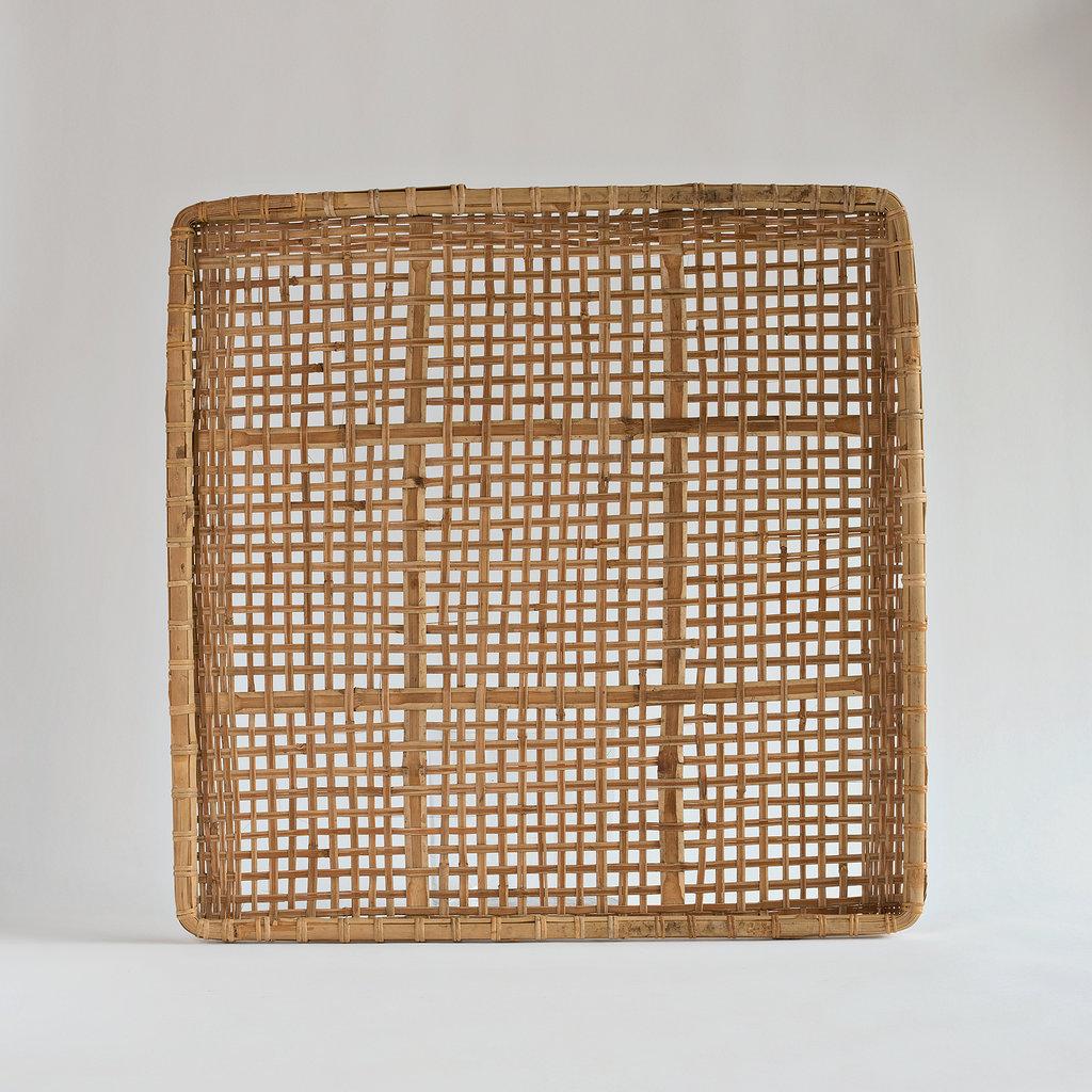 vintage chinese basket panel