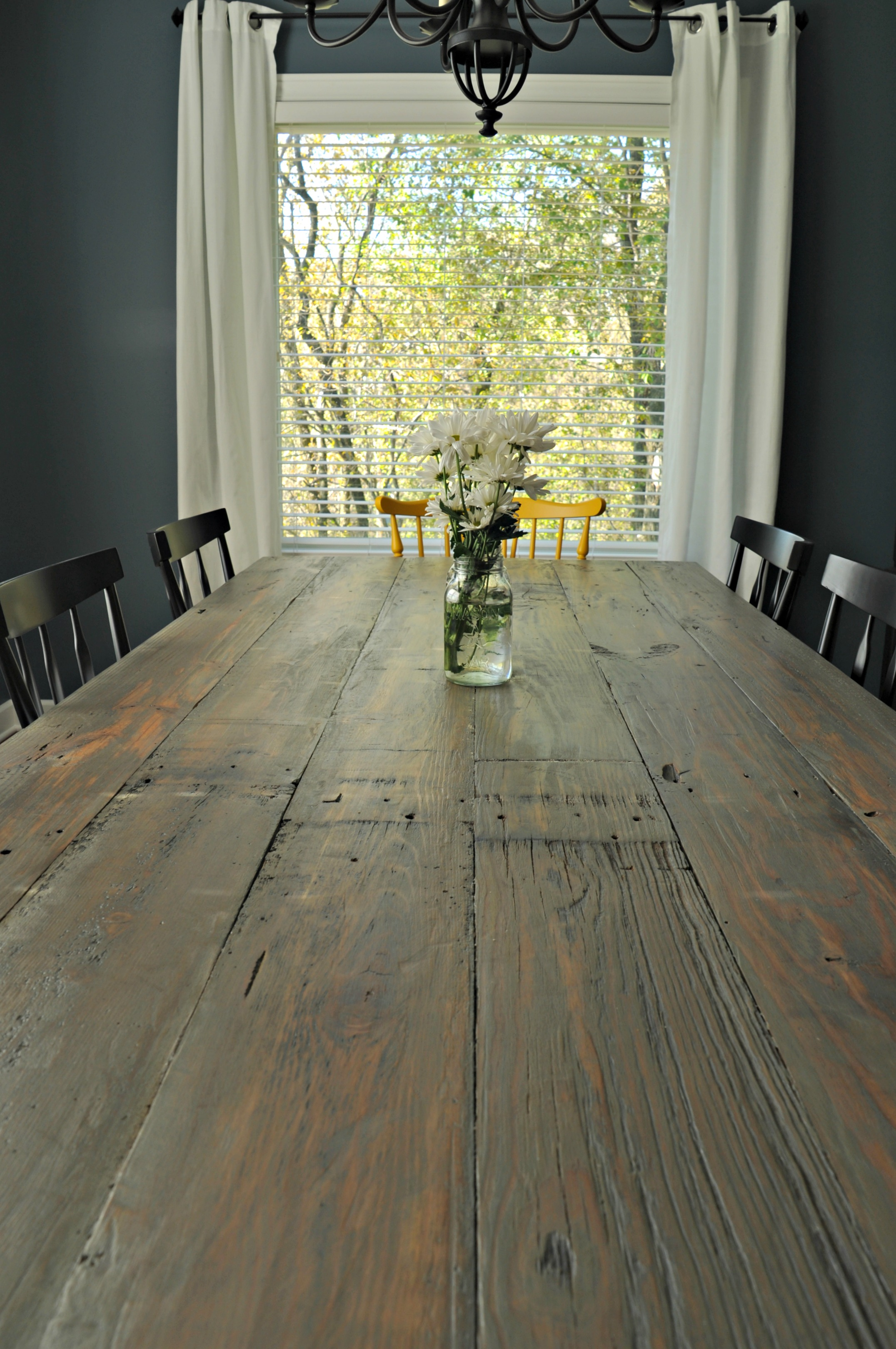 Rustic Farmhouse Dining Table Decor And The Dog