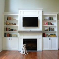 Diy Shelves In Living Room Marble Floor Designs For Built Ins Tutorial Cost Decor And The Dog