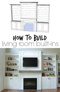 "Living Room Built-Ins ""Tutorial"" + Cost  Decor and the Dog"