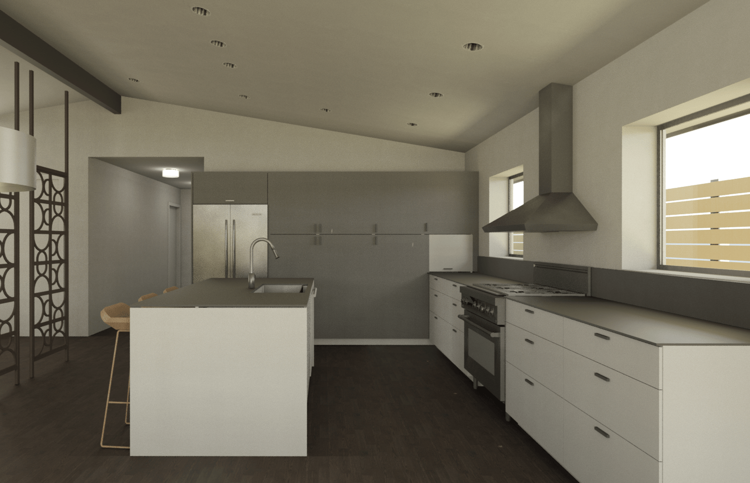 dexter kitchen movable cabinets the cadence design studio 3d computer rendering of proposed