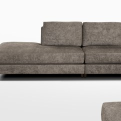 Custom Sectional Sofa Brown Fabric And Leather Corner 003 Chai Ming Studios Cms 4 Jpg