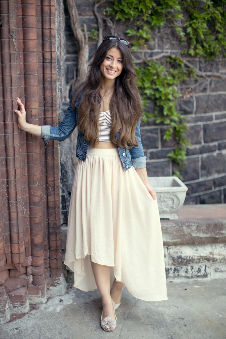 Crop Top Flowy Skirt Mimi Ikonn
