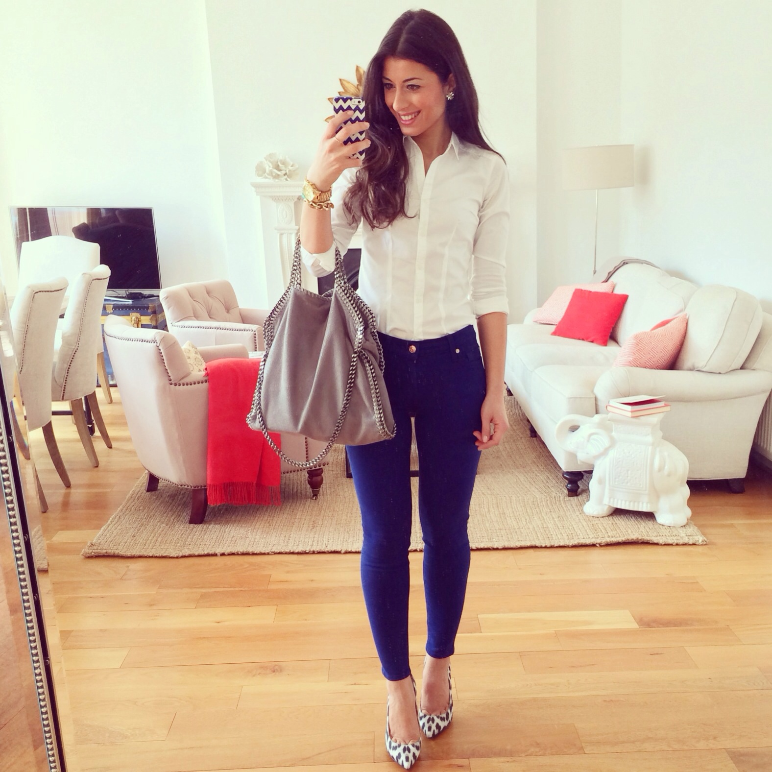 Blue Pants Look Of The Day Mimi Ikonn