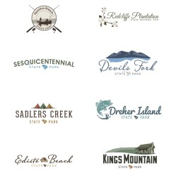 some sort of imagery related to a magnolia tree famous in the region all of these logos are now the official identity of those specific state parks  [ 1000 x 1294 Pixel ]