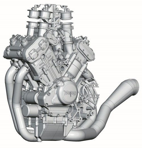 small resolution of the motor compresses air and fuel at 13 6 1 compression ratio in cylinders splayed out in a 72 degree v angle perfectly splitting the compromise between
