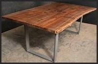 Natural Edge Furniture Walnut Slab Double Pedestal Natural ...