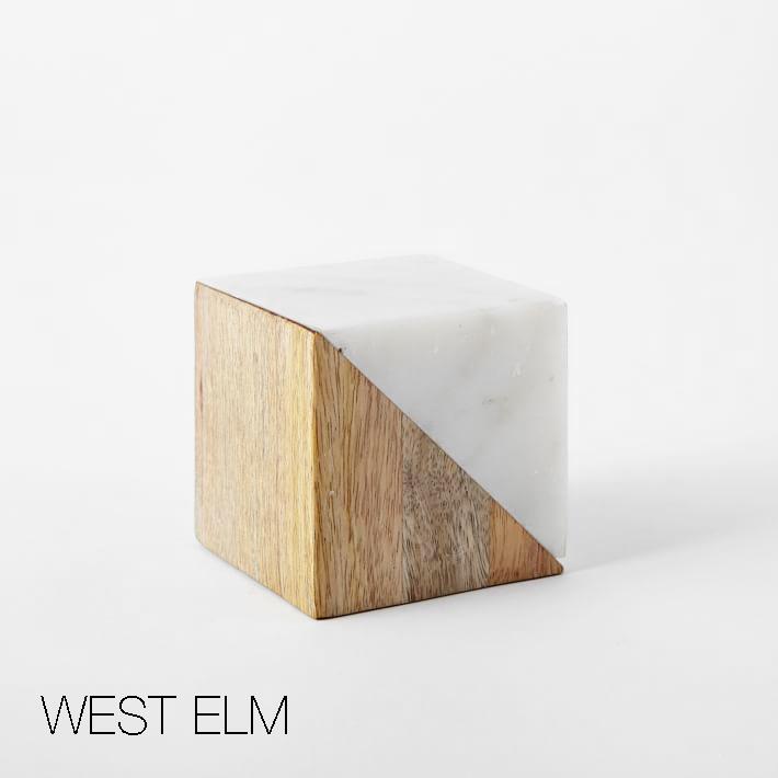 West Elm Inspired Marble + Wood Blocks For the Nursery