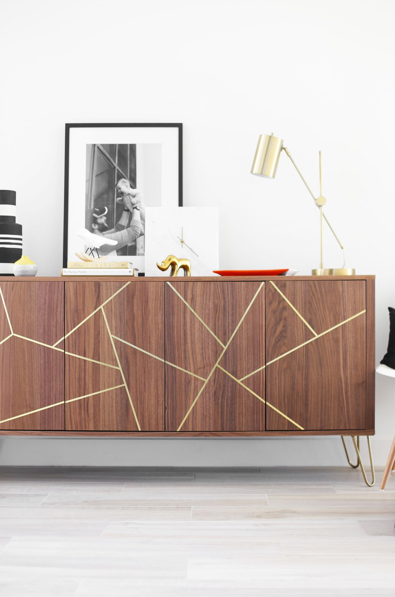 Midcentury Modern IKEA Hack Sideboard  Kristi Murphy