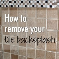 How to remove tile backsplash  Weekend Craft