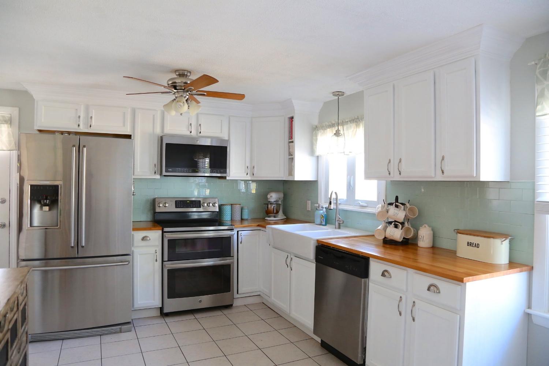 renovated kitchen best floors for kitchens diy renovation weekend craft