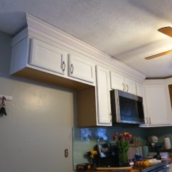 Crown Molding For Kitchen Cabinets Chili Pepper Decorating Themes Adding To Your Cabinets. — Weekend Craft