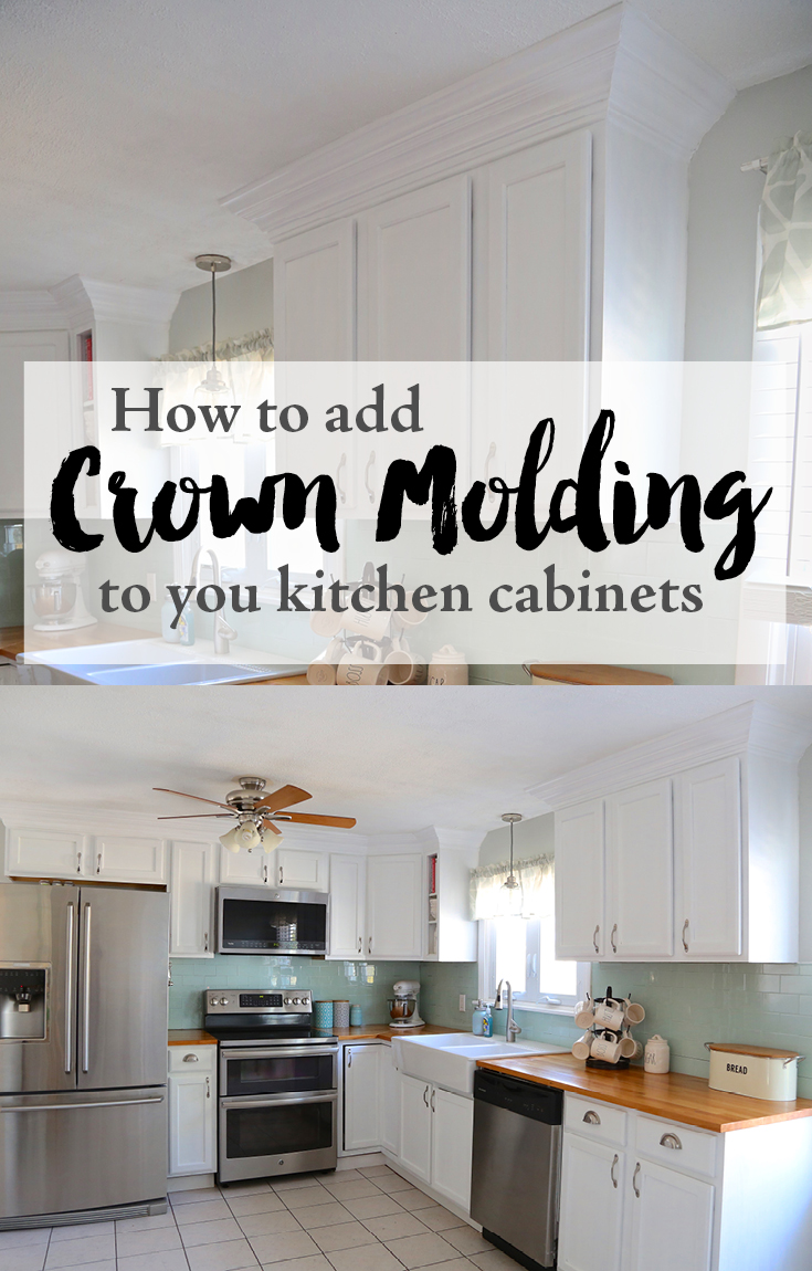 Best Kitchen Gallery: Adding Crown Molding To Your Kitchen Cabi S Weekend Craft of Adding Crown Molding To Kitchen Cabinets on rachelxblog.com