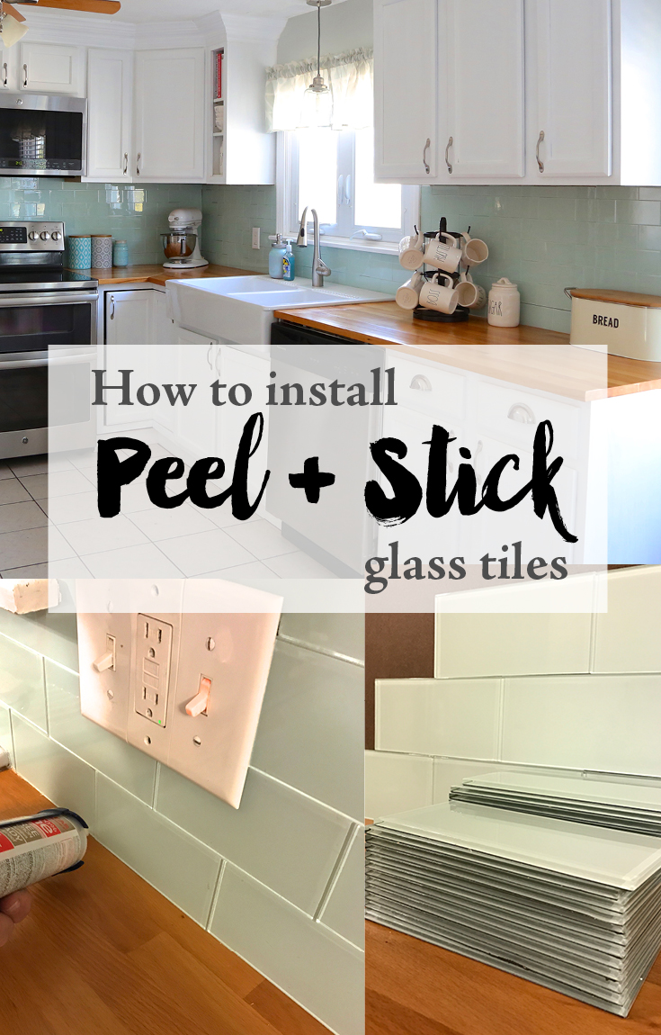 Installing Peel And Stick Glass Tiles Weekend Craft