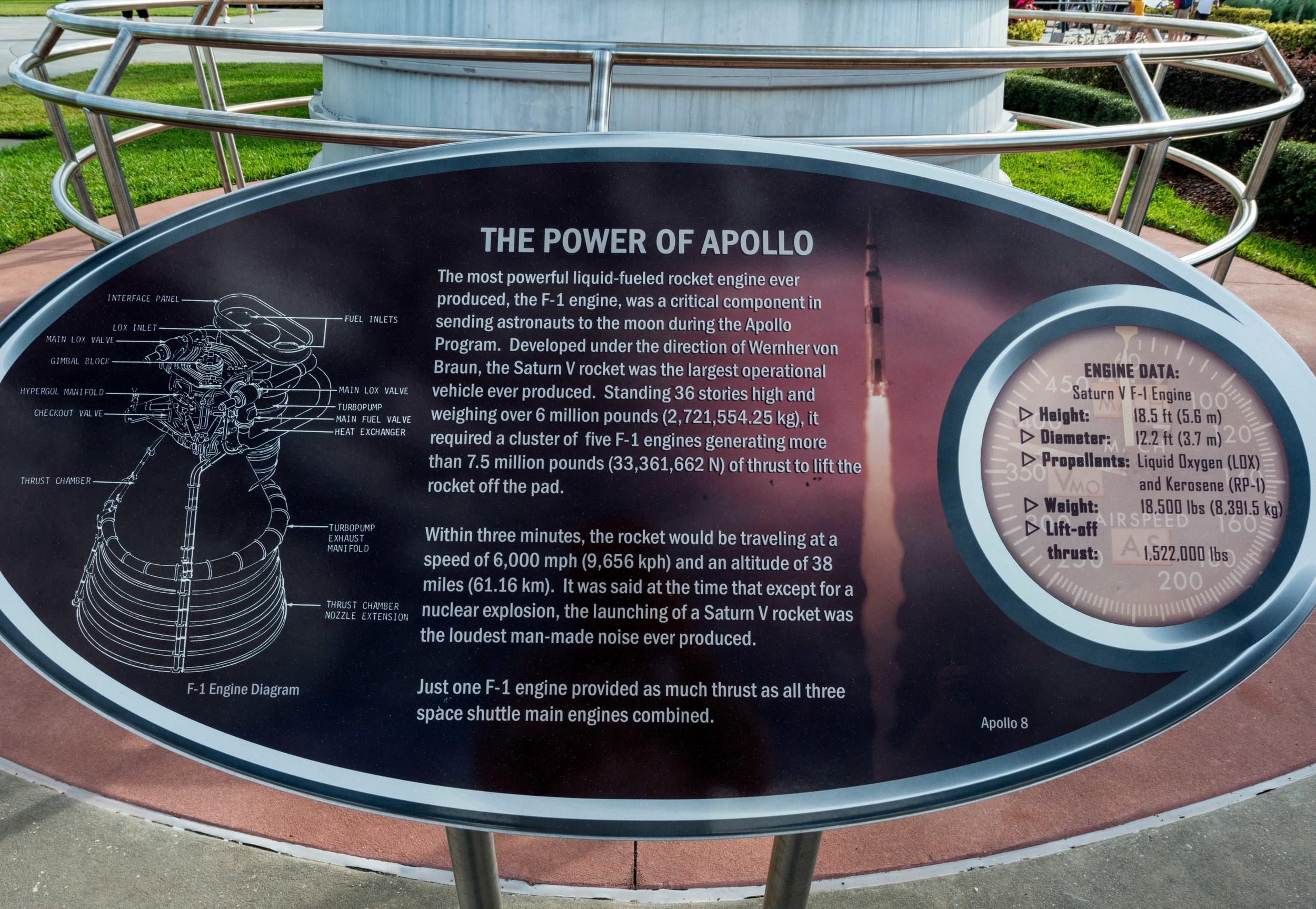 medium resolution of f1 engine the power of apollo rocket garden kennedy space center visitor complex