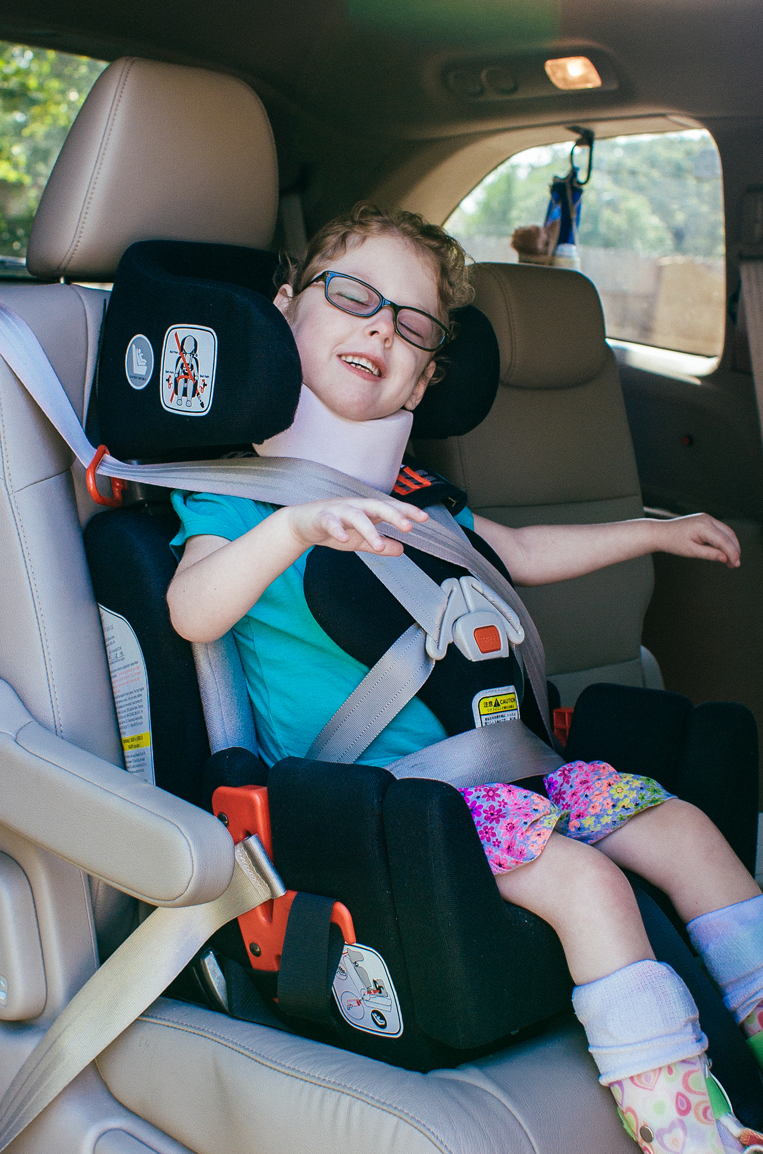 Special Needs Car Seat vs Typical Car Seat  Made of Gray
