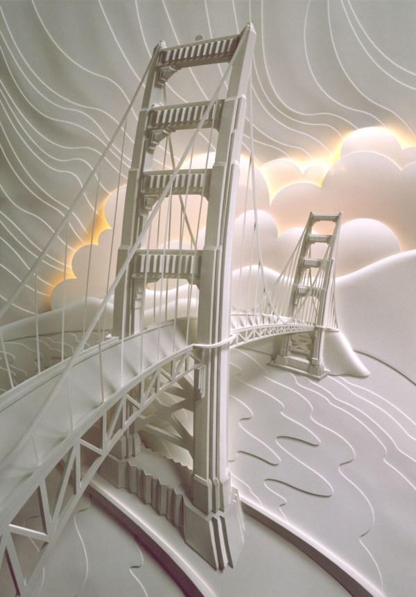 Paper Bridge Sculpture