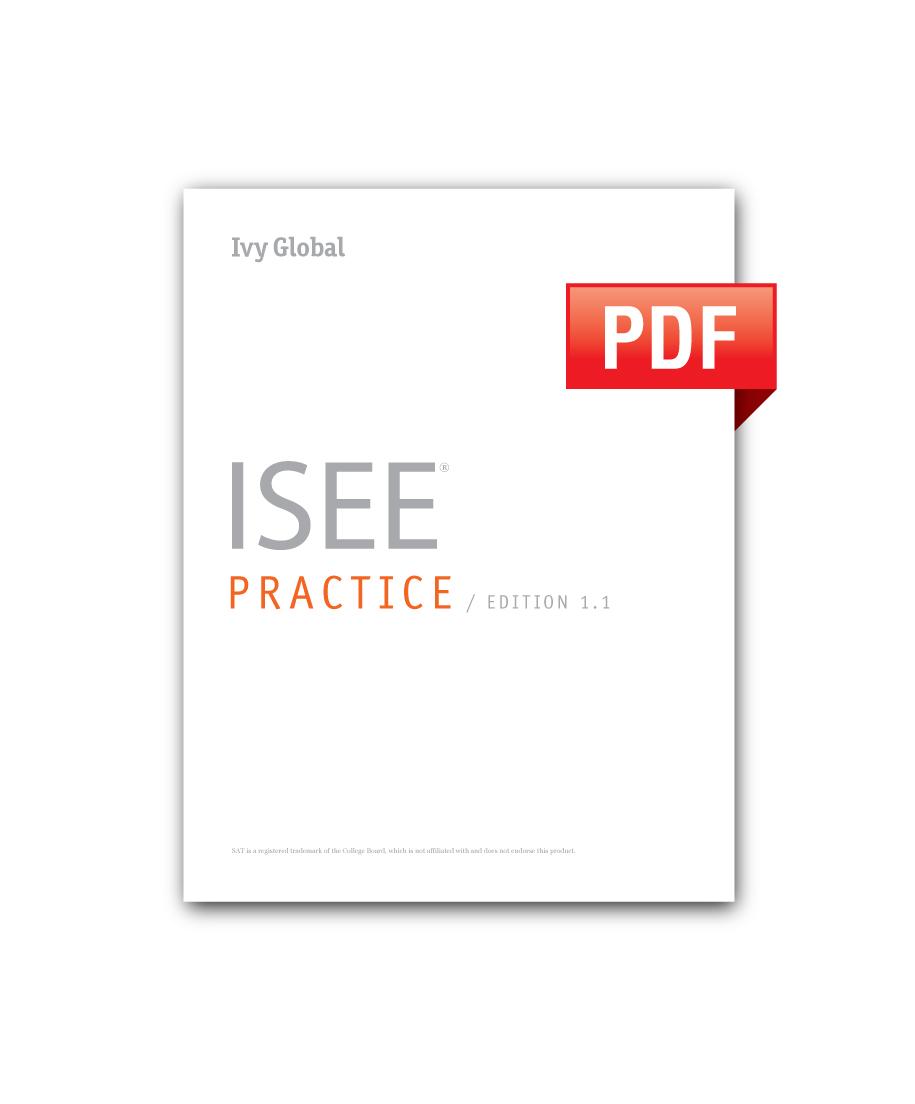 ISEE Practice (PDF) — Ivy Global