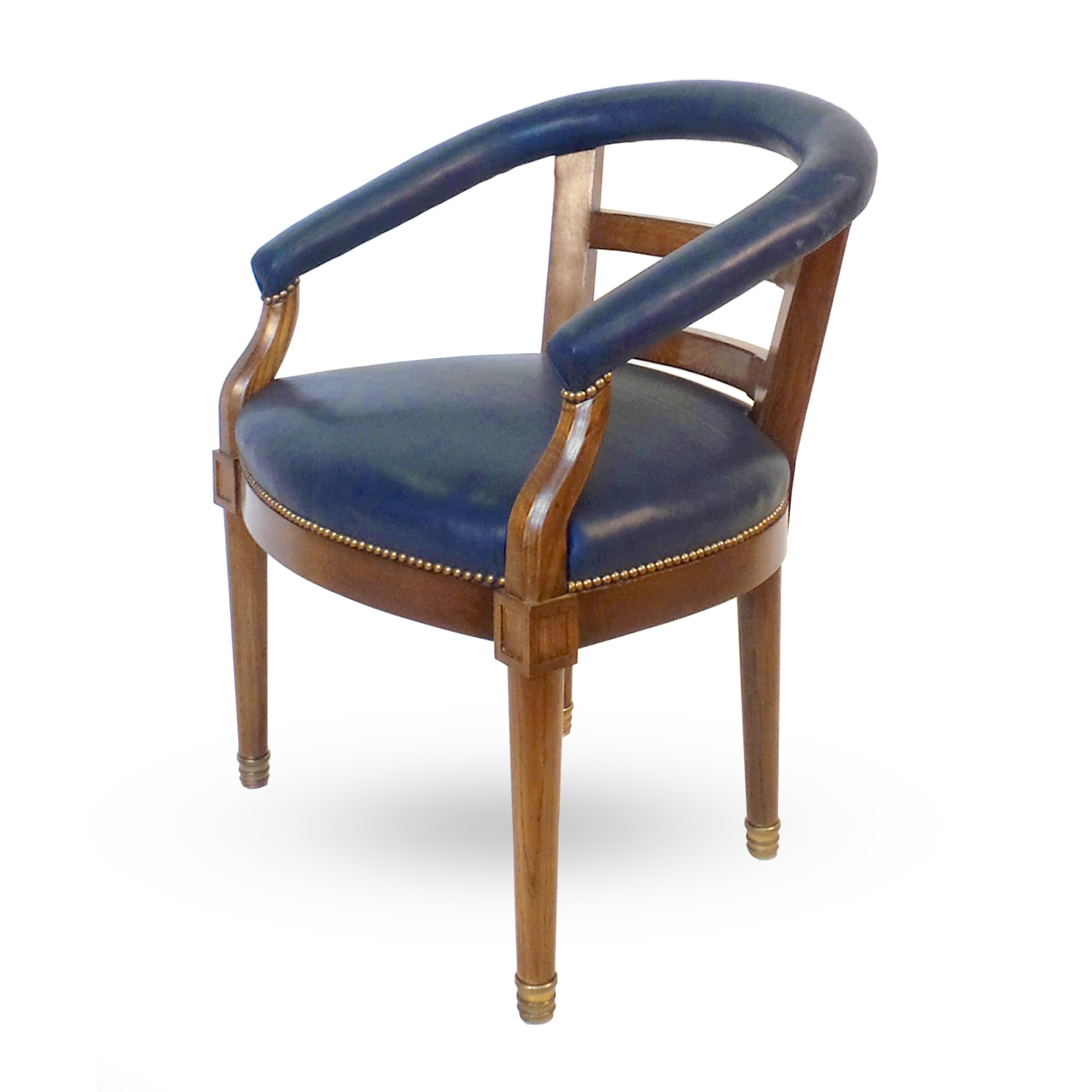 barrel back chair allsteel acuity american armchair victoria son r814 nail head trim brass