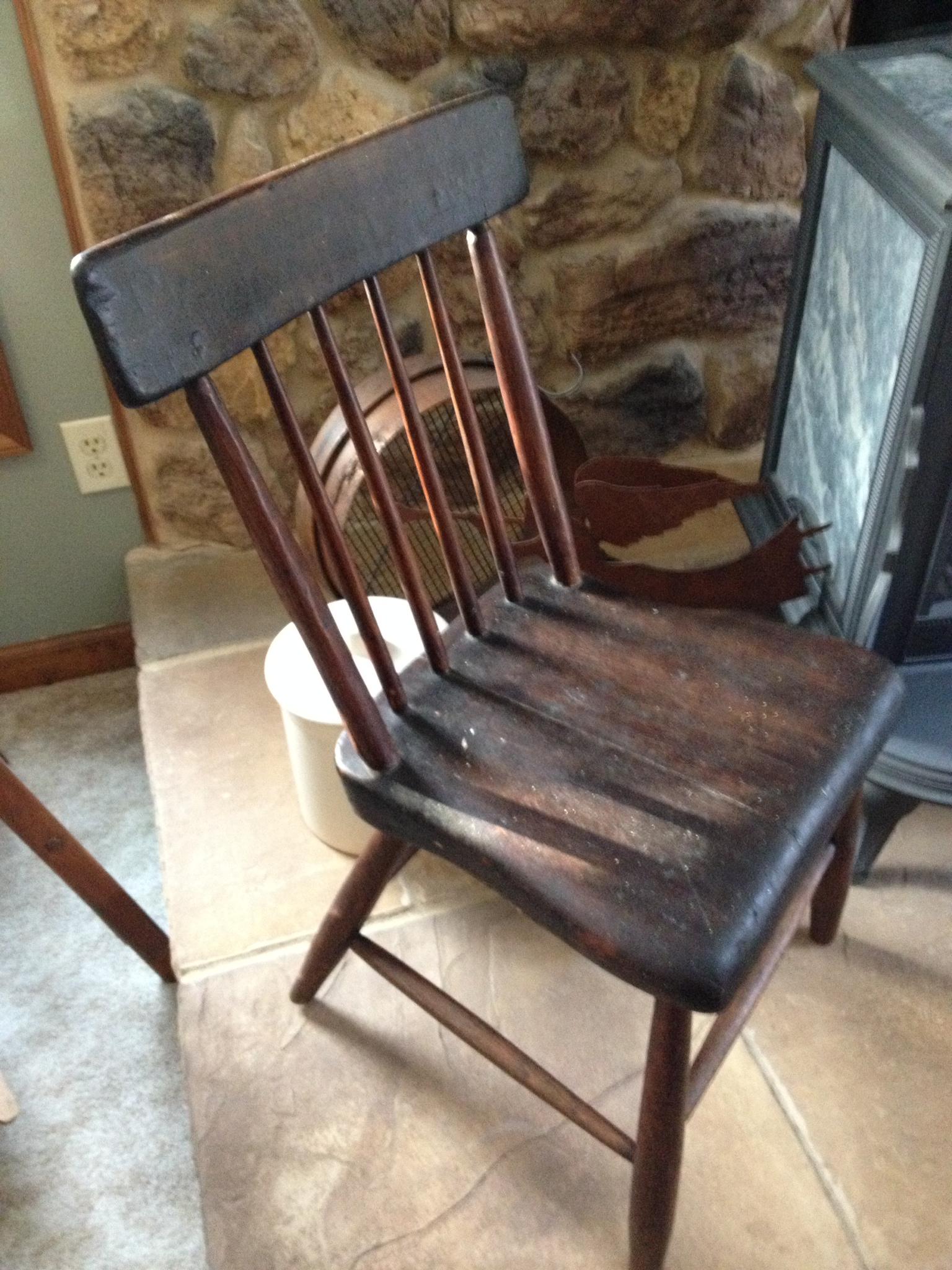 handmade wooden chairs plastic bar bunnings chair vintage heart