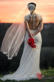 Bridal Portrait Barefoot